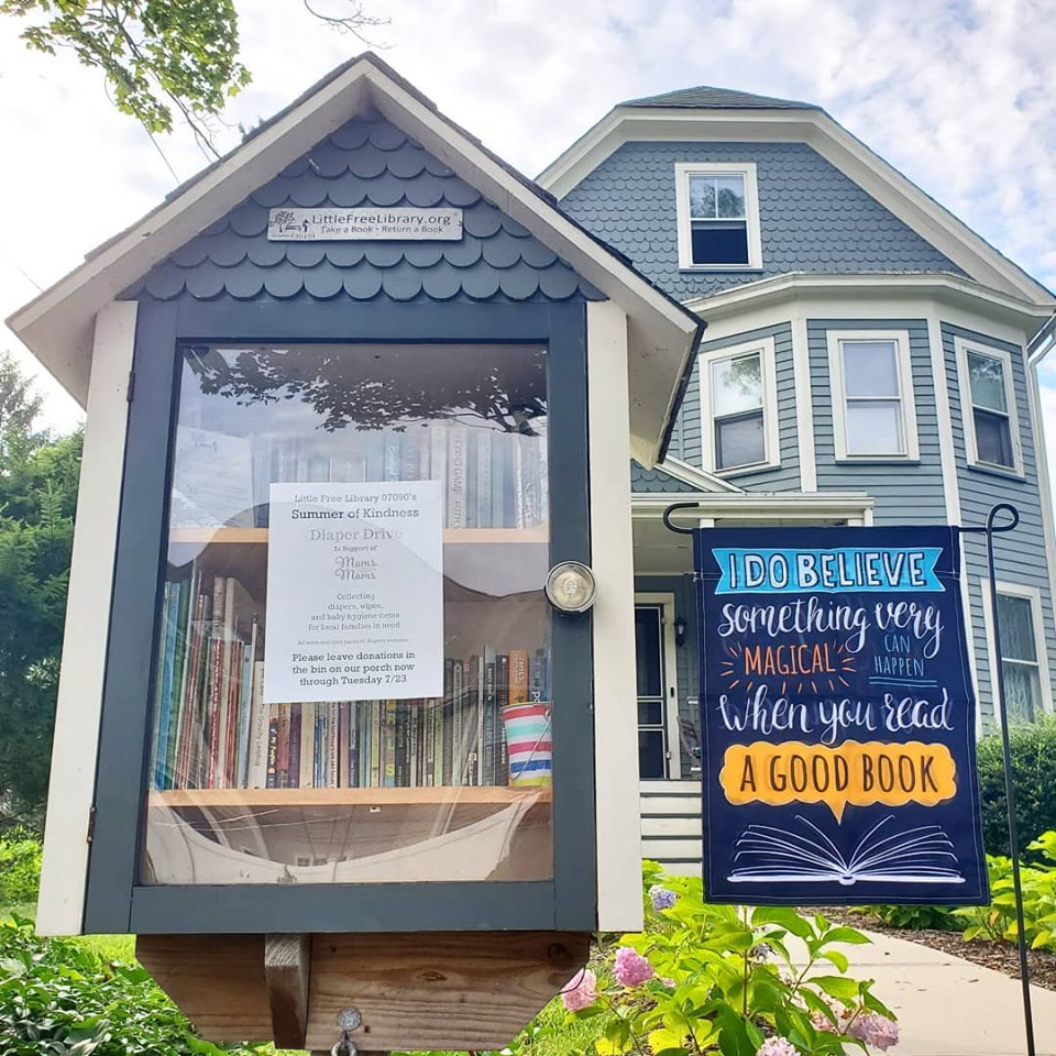 Little Free Library matches house design