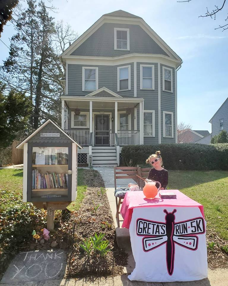 Little Free Library fundraiser lemonade stand